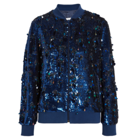 Sequined+Silk-Georgette+Bomber+Jacket