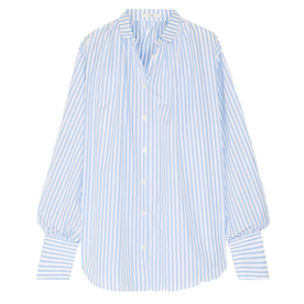 Oversized+Striped+Poplin+Shirt
