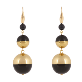 Piece+on+Earth+Triple+Drop+Bauble+Earrings