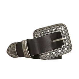 Buckle+Detailed+Leather+Belt