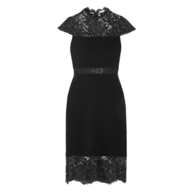 <p>Kim Corded Lace-Paneled Crepe Dress</p>