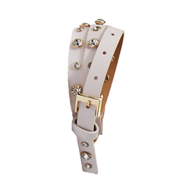 <p>Saffiano Belt with Rhinestone Studs</p>