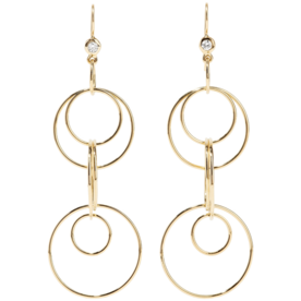 Glamazon+18-Karat+Gold+Diamond+Earrings