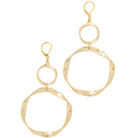 Twisted+Circle+Earrings