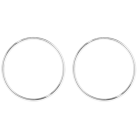 Silver-Plated+Hoop+Earrings