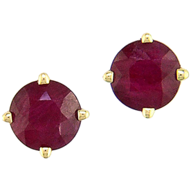 EFFY%C2%A0Ruby+Yellow+Gold+Stud+Earrings
