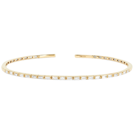 18-Karat+Gold+Diamond+Cuff