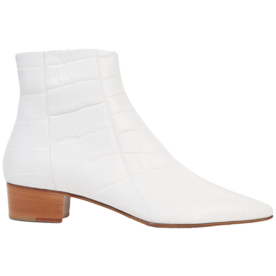 Ambra+Glossed-Alligator+Ankle+Boots