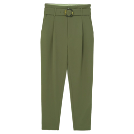 Belted Crepe Pants
