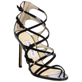Livvy+100+Strappy+Suede+%26amp%3B+Patent+Leather+Sandals