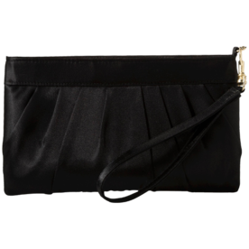 Satin+Pleated+Wristlet+Clutch