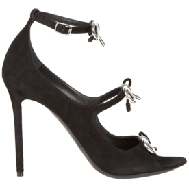 Boucl%C3%A9-Bow+Suede+High-Heel+Sandals