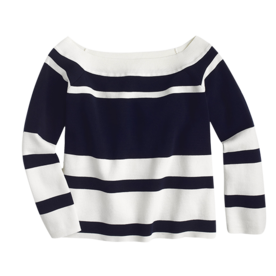 Off-the-Shoulder+Striped+Sweater