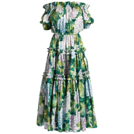 Hortensia-Print+Tiered+Dress