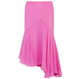 Evelyn+Asymmetric+Pleated%C2%A0Skirt