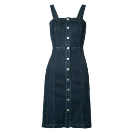 Denim Button-Down Dress