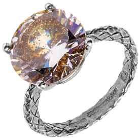 Cubic-Zirconia+and+Silver+Ring