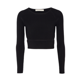 Cutout+Ribbed+Stretch-Knit+Top