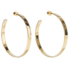 Kate+Gold-Plated+Hoop+Earrings
