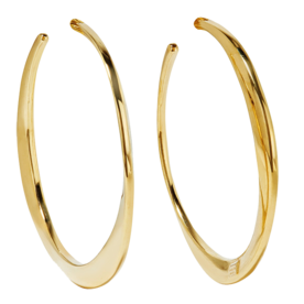 Classico+Gold+Hoop+Earrings