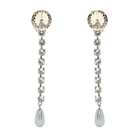 Faux-Pearl+and+Crystal+Drop+Earrings