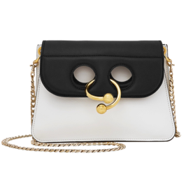 Pierce+Mini+Two-Tone+Leather+Shoulder+Bag