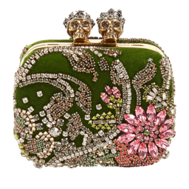 Queen+and+King+Skull+Crystal-Embellished+Clutch