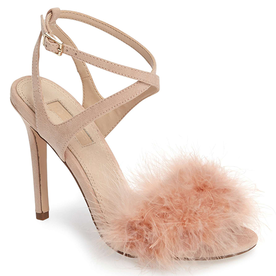 Reine+Feathered+Sandal
