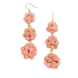 Floral Crispin Ball Drop Earrings