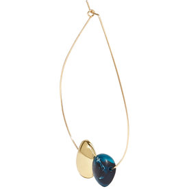 Mineral Hoop gold-filled resin earring