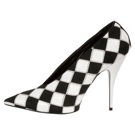 Checkered+Pointed-Toe%C2%A0Pump