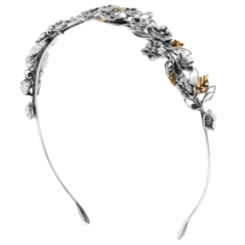 Burnished+silver+and+gold-tone+headband