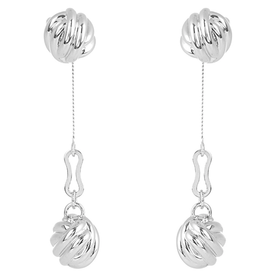 Knot+drop+earrings