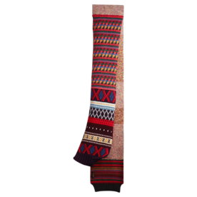 Long Patchwork Cashmere Mouliné Scarf