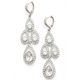 Crystal+Chandelier+Drop+Earrings