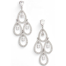 Crystal+Chandelier+Earrings