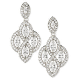 Marquise+Crystal+Drop+Earrings
