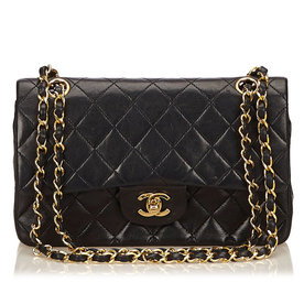 Chanel+Quilted+Black+Purse