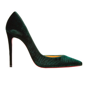 Iriza+croc-effect+velvet+pumps