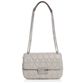 Michael+Kors+Grey+Quilted+Bag