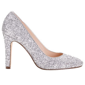 Round+Toe+Glitter+Pumps