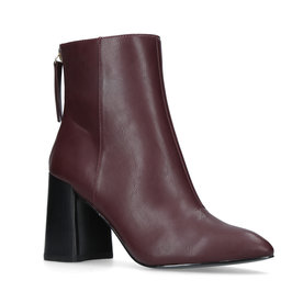 Miss+KG+Burgundy+Ankle+Boots