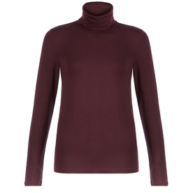 Burgundy+Roll+Neck