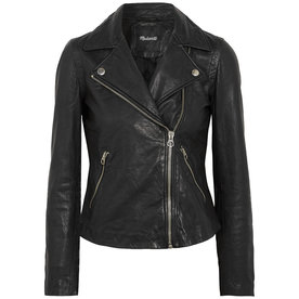 Washed+Leather+Biker+Jacket