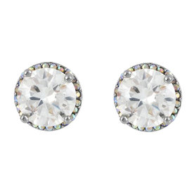 Round+Crystal+Stud+Earrings