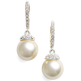 Imitation+Pearl+Drop+Earrings