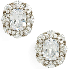 Estate+Jewelry+Cubic+Zirconia+Stud+Earrings