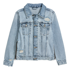 Denim+Jacket+with+Zips