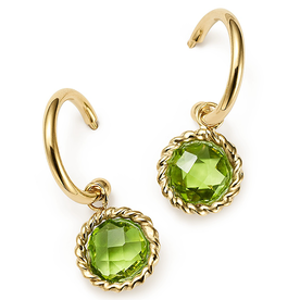 Peridot+Small+Hoop+Earrings%C2%A0