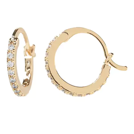 Pave+Mini+Hoop+Earrings